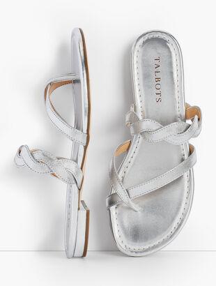 Gia Twist Sandals - Metallic
