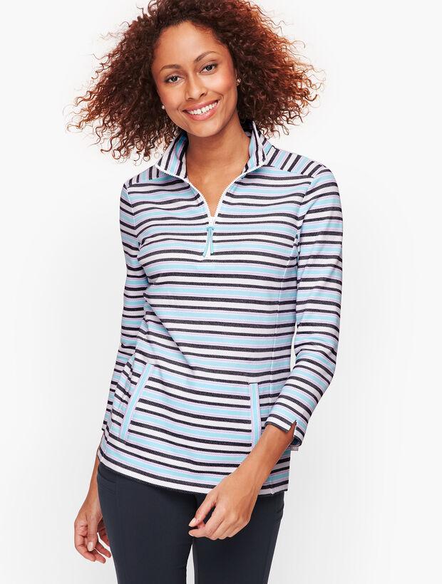 Knot Stripe Half Zip Pullover