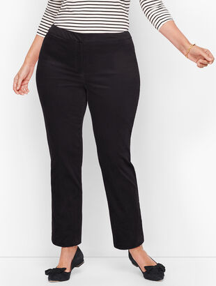 Plus Size Talbots Chatham Ankle Pants - Velveteen