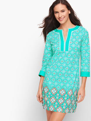 Cabana Life® Embroidered Cover Up - Aqua Medallion
