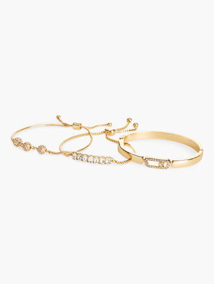 Delicate Triple Bracelet & Bangle Set