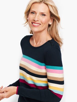 Multicolor Stripe Crewneck Sweater