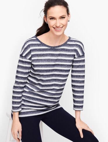 Back Tie Pullover - Stripe