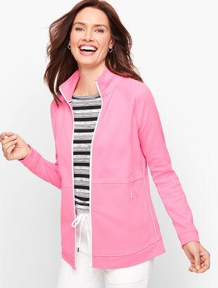 Pique Zip Front Jacket