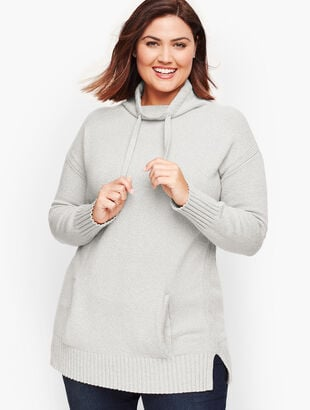 Drawstring Funnel Neck Sweater