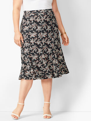 Floral Jersey Midi Skirt