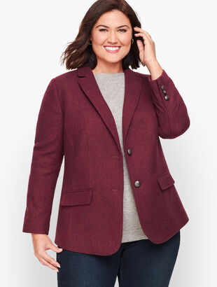 Shetland Wool Blazer - Solid