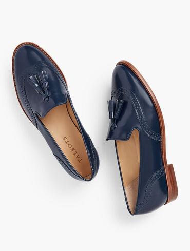Leighton Tasseled Leather Brogue Loafers