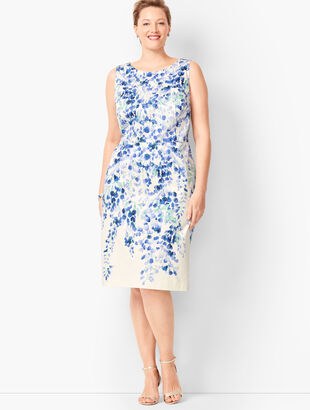 Pastel Floral Sheath Dress