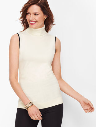 Tipped Turtleneck Shell