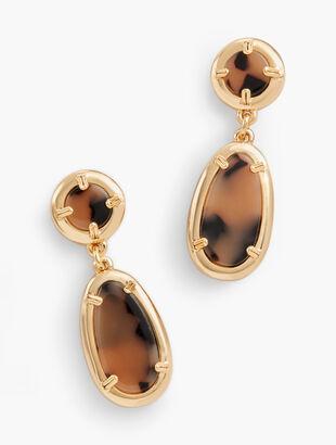 Blush Tortoise Earrings