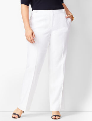 Talbots Windsor Linen Wide-Leg Pants - Lined