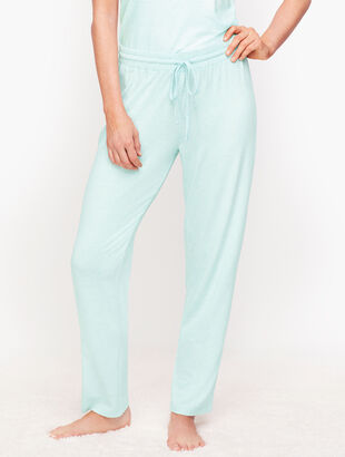 Lightweight Jersey Straight Leg Lounge Pants