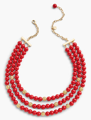 Three-Strand Glass Necklace