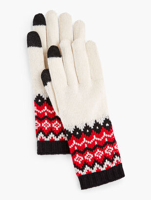 Chalet Fair Isle Touch Gloves