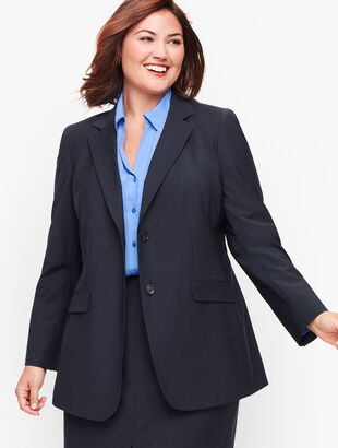 Seasonless Wool Two-Button Blazer