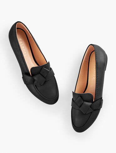 Ryan Knot Nappa Leather Loafers