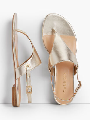 Keri Triangle Sandals - Metallic