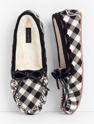 Ruby Moccasin Slippers - Buffalo Plaid