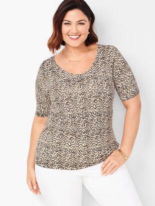 Animal-Print Sweater