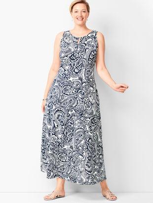 Knit Jersey Maxi Dress - Paisley