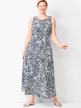 Paisley Jersey Maxi Dress