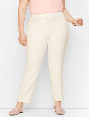 Plus Size Talbots Hampshire Ankle Pants - Lined Ivory