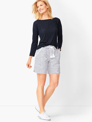Stripe Terry Shorts