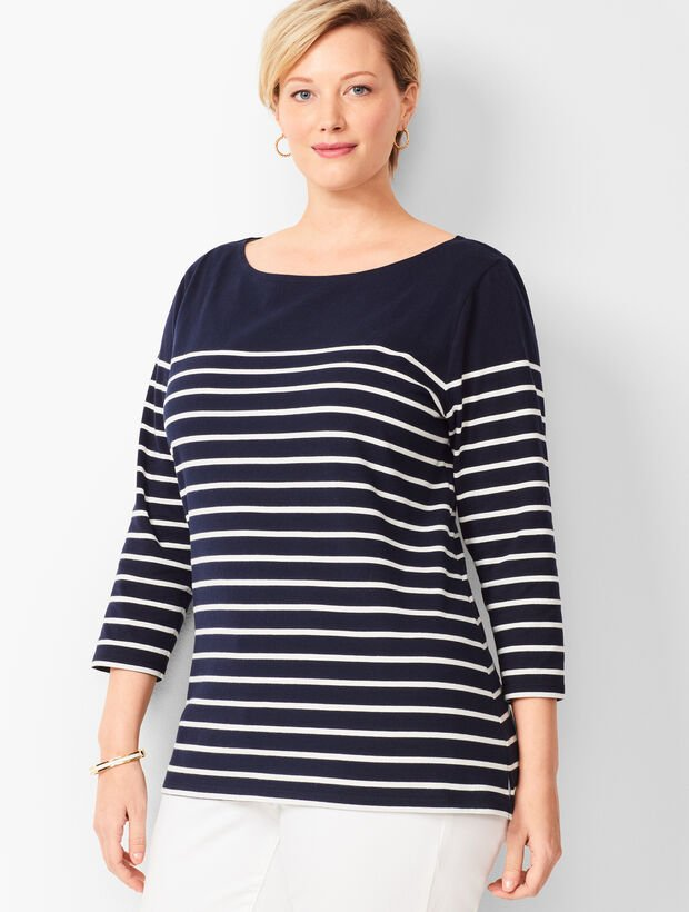 Authentic Talbots Tee - Breton Stripe