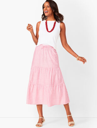 a08c6b0106 Tiered Cotton Midi Skirt