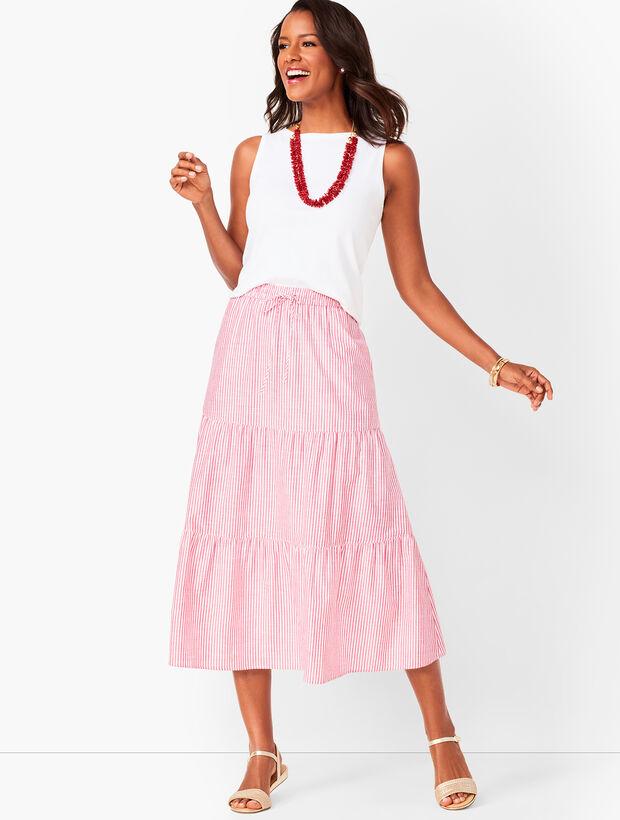 03bc41e8ec9d Tiered Cotton Midi Skirt | Talbots