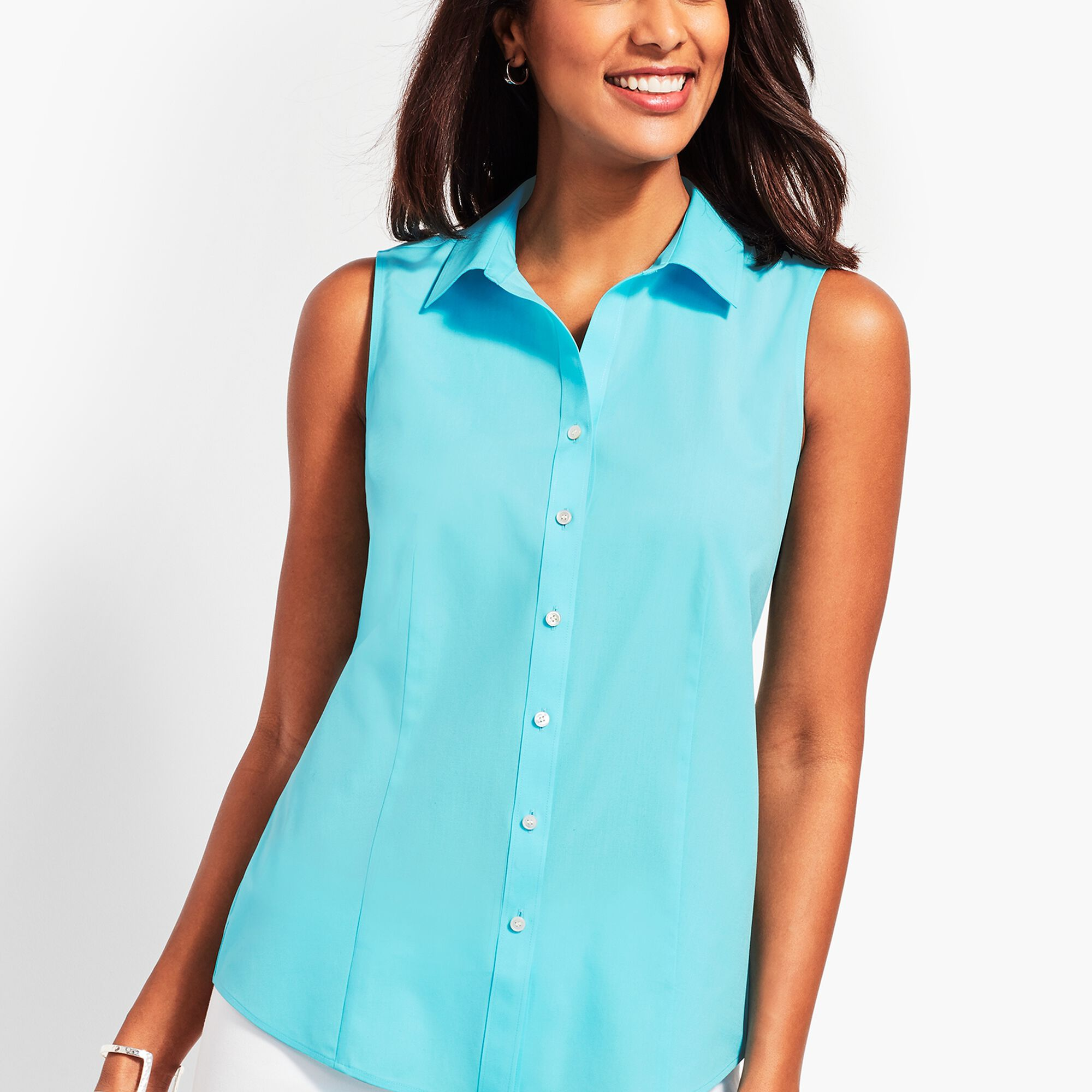 8bfa394c218a Images. The Classic Sleeveless Button Front Shirt