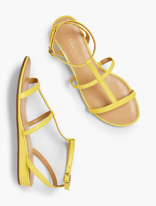 Daisy Gladiator Micro-Wedge Sandals
