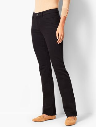 High-Waist Barely Boot Jeans - Never Fade Black