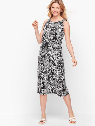 Sleeveless Midi Dress - Paisley