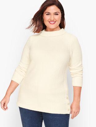 Textured Sabrina Sweater