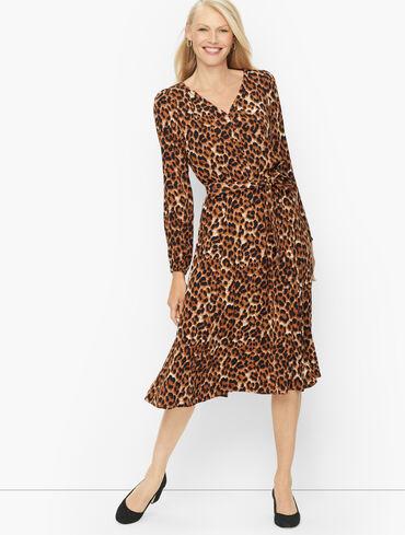 Fit & Flare Dress - Fun Leopard