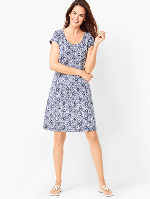 French Terry Dress - Geo Print