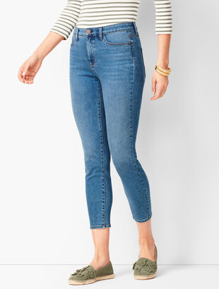 Denim Jegging Crops - Cove Wash