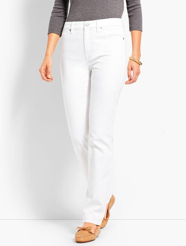 ffb4c07f1c8e High-Waist Straight-Leg Jeans - White | Talbots