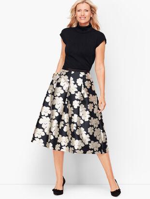 Ikat Floral Jacquard Full Skirt