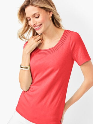 Lattice-Trim Tee