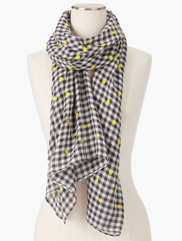 Gingham & Flowers Scarf