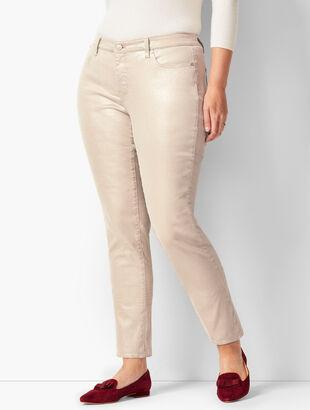Silver Foil Slim Ankle Jeans