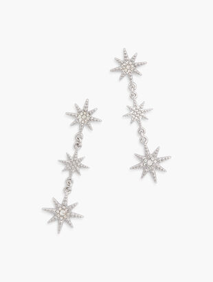 Crystal Stars Drop Earrings
