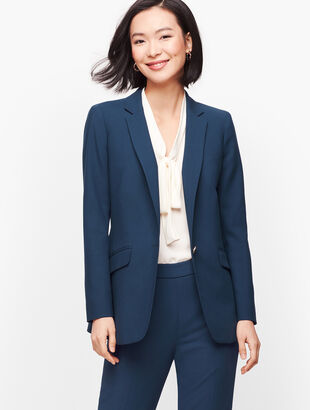 Luxe Double Weave Single Button Blazer