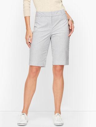 Perfect Shorts - Bermuda Length - Railroad Stripe