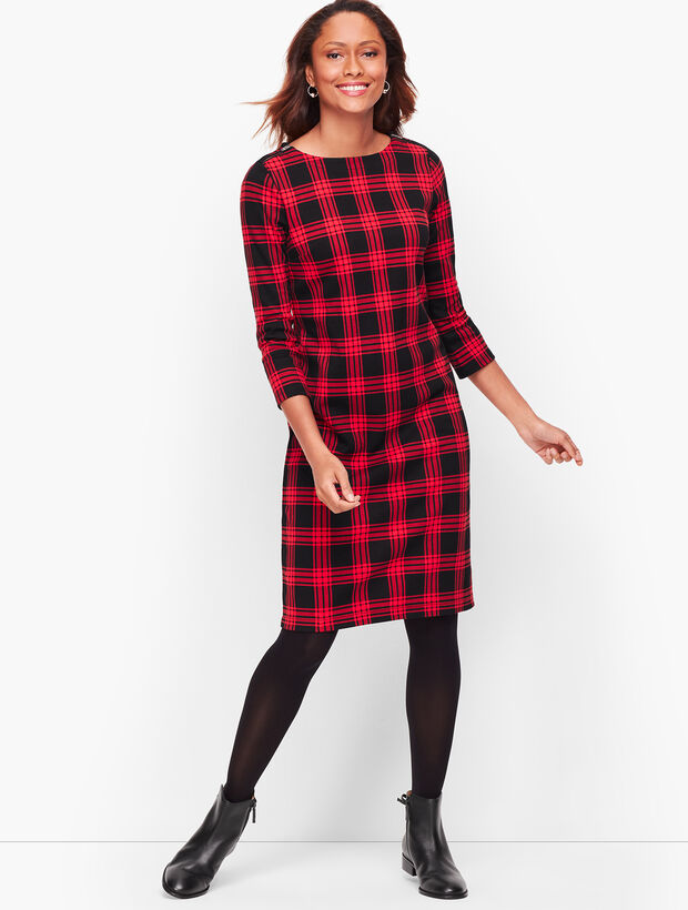 Cotton Buffalo Check Shift Dress