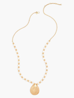 Long Beach Beads Shell Necklace