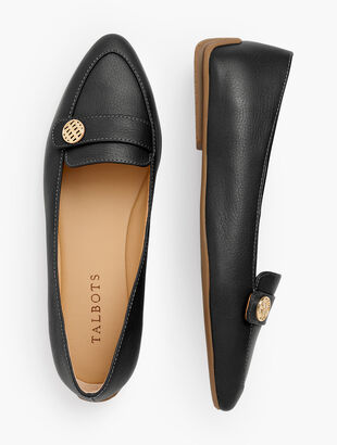 Francesca Tab Driving Moccasins - Pebbled Leather